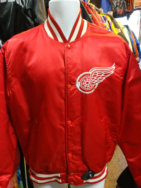 Vintage 80s DETROIT RED WINGS NHL Starter Nylon Jacket L - #XL3VintageClothing