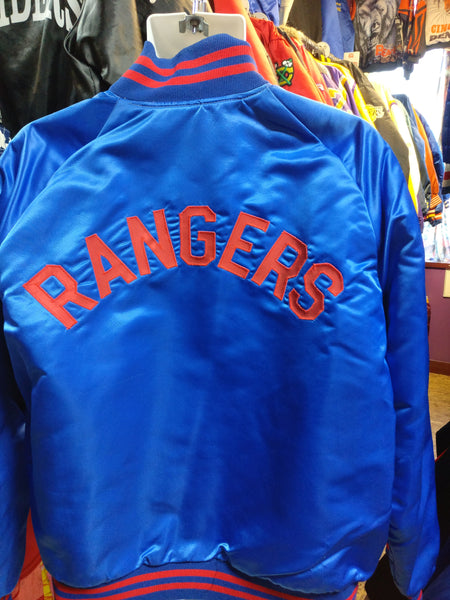 Vintage 80s NEW YORK RANGERS NHL Back Patch Pyramid Nylon Jacket L - #XL3VintageClothing