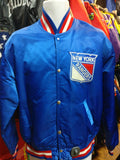 Vintage 80s NEW YORK RANGERS NHL Starter Nylon Jacket L - #XL3VintageClothing