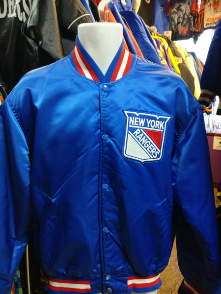 Vintage 80s NEW YORK RANGERS NHL Starter Nylon Jacket XL - #XL3VintageClothing