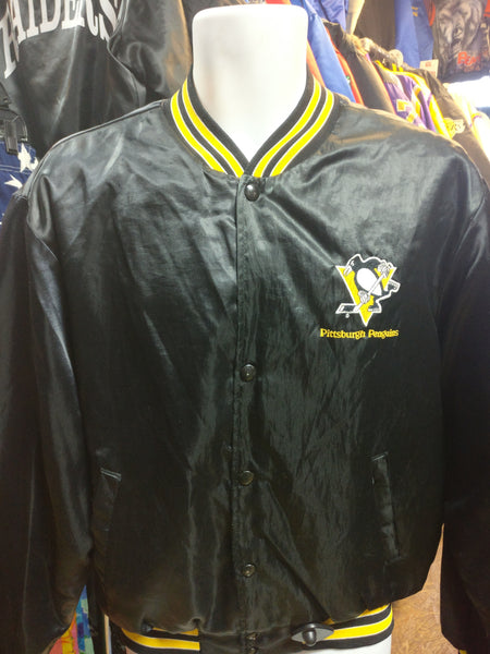 Vintage 80s PITTSBURGH PENGUINS NHL Swingster Nylon Jacket L - #XL3VintageClothing