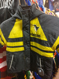 Vtg PITTSBURGH PENGUINS NHL Back Embroidery Hooded Nylon Jacket 24M - #XL3VintageClothing