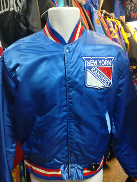 Vintage 80s NEW YORK RANGERS NHL Starter Nylon Jacket M - #XL3VintageClothing