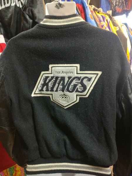 Vintage 80s LOS ANGELES KINGS NHL Back Patch Delong Varsity Jacket L - #XL3VintageClothing