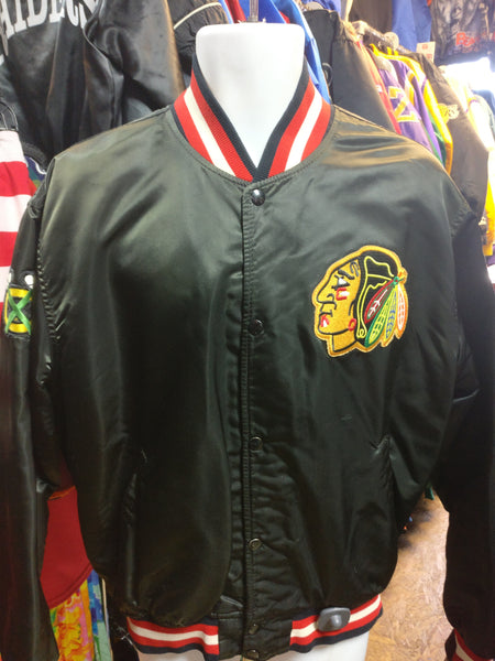 Vintage 80s CHICAGO BLACKHAWKS NHL Starter Nylon Jacket XL - #XL3VintageClothing