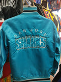 Vintage 90s SAN JOSE SHARKS NHL Back  Embroidery Delong Nylon Jacket S - #XL3VintageClothing