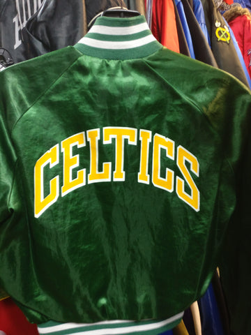 Vintage 80s BOSTON CELTICS NBA Back Print Chalk Line Jacket 10-12 - #XL3VintageClothing