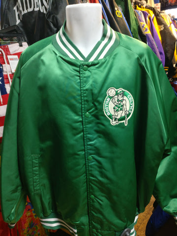 Vintage 80s BOSTON CELTICS NBA Chalk Line Nylon Jacket 4XL - #XL3VintageClothing