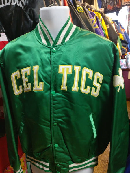 Vintage 80s BOSTON CELTICS NBA Starter Nylon Jacket L - #XL3VintageClothing