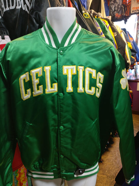 Vintage 80s BOSTON CELTICS NBA Starter Nylon Jacket XL - #XL3VintageClothing