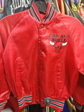 Vintage 80s CHICAGO BULLS NBA Chalk Line Back Print Nylon Jacket 10-12 - #XL3VintageClothing