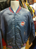 Vintage 80s DETROIT PISTONS Back Patch NBA Locker Line Nylon Jacket L - #XL3VintageClothing