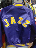 Vintage 80s UTAH JAZZ NBA Chalk Line Back Patch Jacket S - #XL3VintageClothing