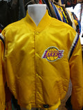 Vintage 80s LOS ANGELES LAKERS Gold NBA Starter Nylon Jacket XL - #XL3VintageClothing