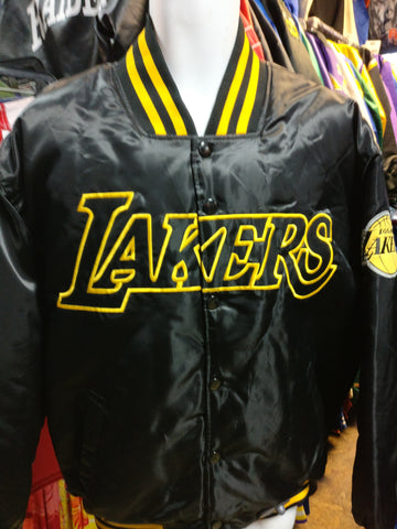 Vintage LOS ANGELES LAKERS NBA Majestic Black Jacket L (Mint) - #XL3VintageClothing