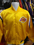 Vtg 80s LOS ANGELES LAKERS NBA Back Embroidery Starter Nylon Jacket L - #XL3VintageClothing