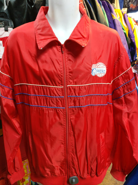 Vtg 90s LOS ANGELES CLIPPERS NBA Starter Windbreaker Nylon Jacket XL - #XL3VintageClothing