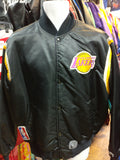 Vtg80s LOS ANGELES LAKERS NBA Starter Reversible Nylon Jacket XL(Rare) - #XL3VintageClothing