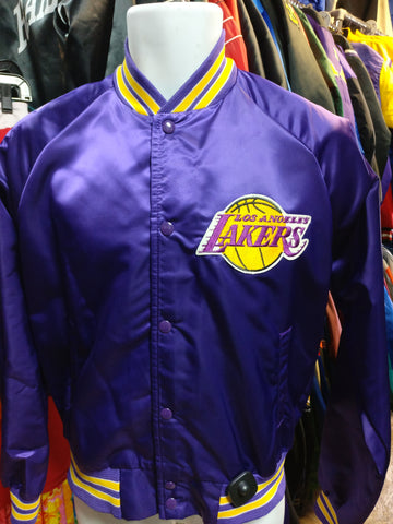 Vintage 90s LOS ANGELES LAKERS NBA Chalk Line Nylon Jacket M - #XL3VintageClothing