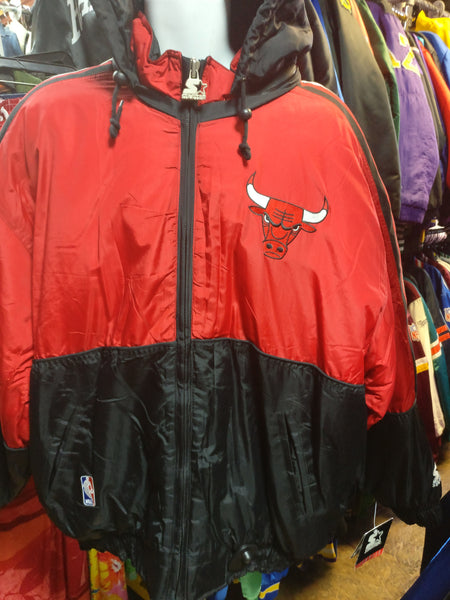 Vintage 2000s CHICAGO BULLS NBA Starter Nylon Jacket XL (Deadstock) - #XL3VintageClothing