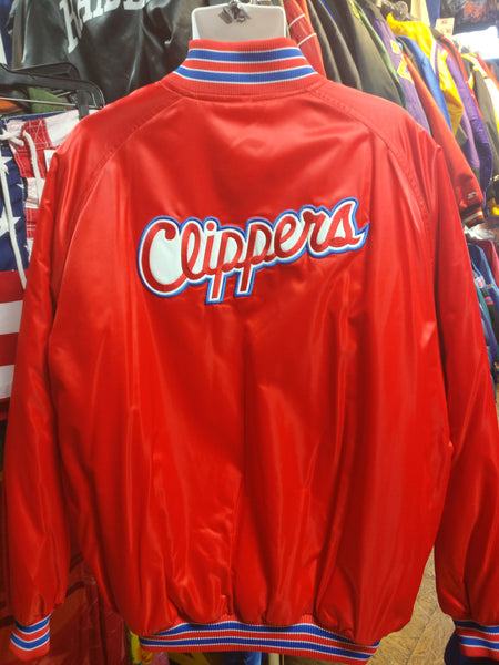 Vintage 90s LOS ANGELES CLIPPERS NBA Back Patch Nike Nylon Jacke XL - #XL3VintageClothing