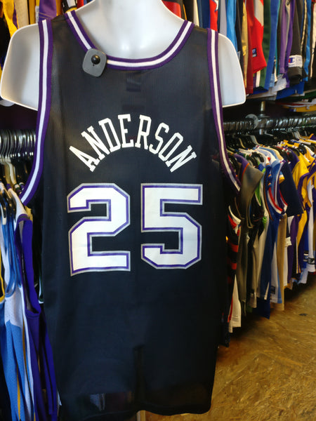 Vtg #25 NICK ANDERSON Sacramento Kings Champion Jersey 48 (Deadstock) - #XL3VintageClothing