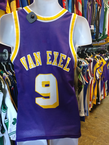 Vintage #9 NICK VAN EXEL Los Angeles Lakers NBA Champion Jersey 36 - #XL3VintageClothing
