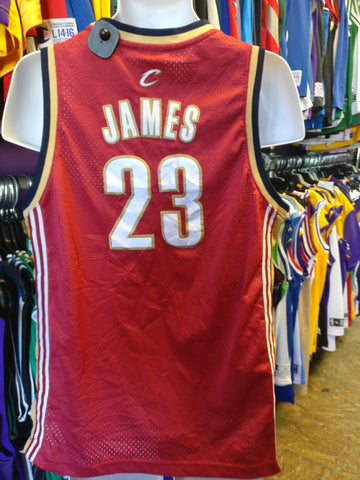 Vtg#23 LEBRON JAMES Cleveland Cavaliers NBA Reebok Authentic JerseyYXL - #XL3VintageClothing