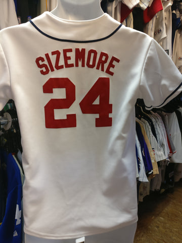 Vintage #24 GRADY SIZEMORE Cleveland Indians MLB Majestic Jersey YL - #XL3VintageClothing
