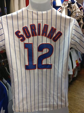 Vintage #12 ALFONSO SORIANO Chicago Cubs MLB Majestic Jersey YM - #XL3VintageClothing