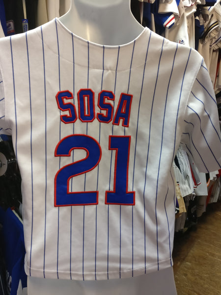 Vintage #21 SAMMY SOSA Chicago Cubs MLB Russell Athletic Jersey YS - #XL3VintageClothing