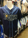 Vintage #3 EVAN LONGORIA Tampa Bay Rays MLB Majestic Jersey S - #XL3VintageClothing