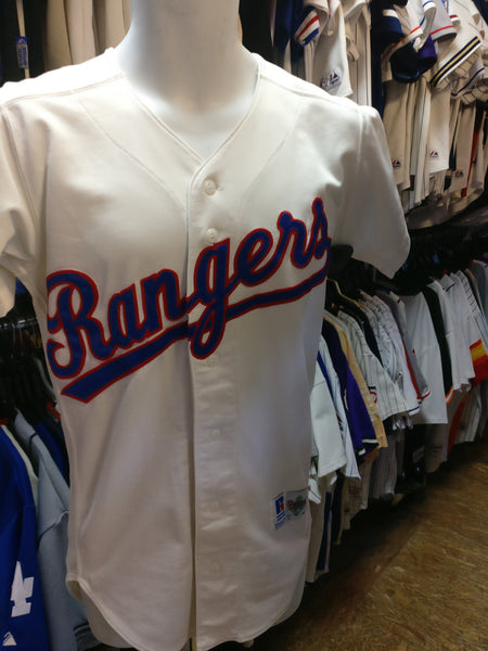 sports shoes 5bb66 b86d1 Vintage 80s TEXAS RANGERS MLB Russell Athletic Authentic Jersey 36