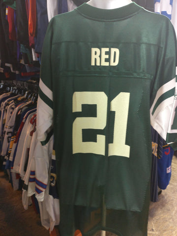 Vintage #21 RED New York Jets NFL Reebok Jersey 2XL - #XL3VintageClothing