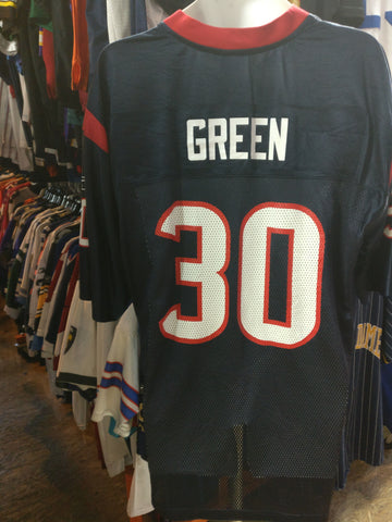 Vintage #30 AHMAN GREEN Houston Texans NFL Reebok Jersey L - #XL3VintageClothing