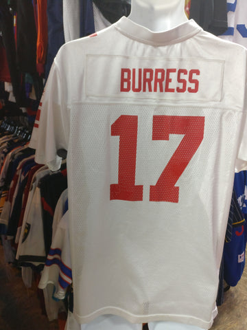 Vintage #17 PLAXICO BURRESS New York Giants NFL Reebok Jersey YXL