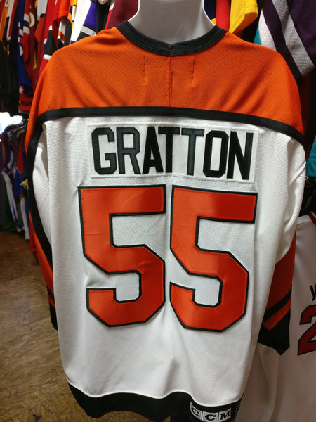 Vintage #55 CHRIS GRATTON Philadelphia Flyers NHL CCM Jersey XXL - #XL3VintageClothing
