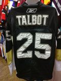Vtg #25 MAX TALBOT Pittsburgh Penguins NHL RBK CCM Authentic Jersey 52 - #XL3VintageClothing