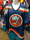 Vtg #39 TRAVIS GREEN New York Islanders NHL CCM Authentic Jersey 54 - #XL3VintageClothing