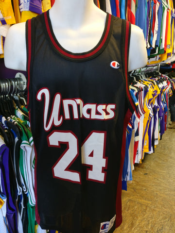 Vintage #24 UMASS Minutemen NCAA Champion Jersey 44 (Mint) - #XL3VintageClothing