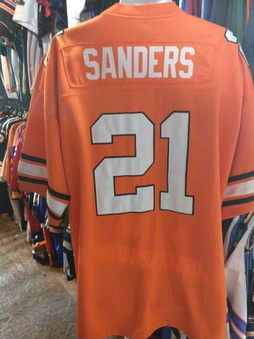 Vtg #21 BARRY SANDERS Oklahoma State Cowboys NCAA Gridiron Jersey 56 - #XL3VintageClothing