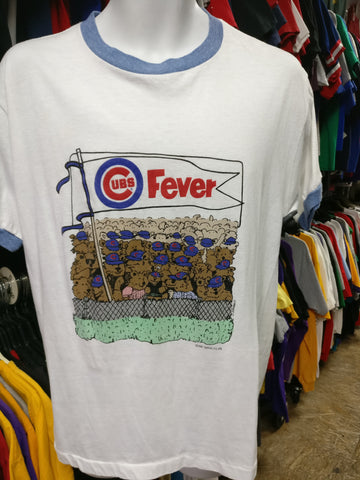 Vintage '85 CHICAGO CUBS MLB Fever Ringer T-Shirt XL - #XL3VintageClothing