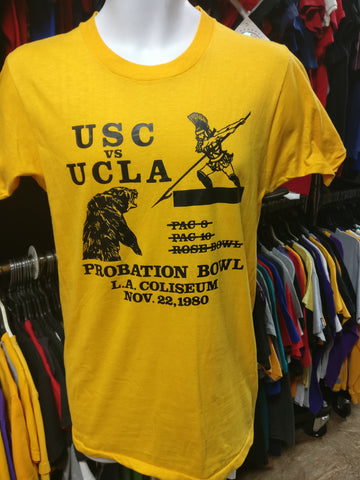 Vintage '80 USC vs UCLA NCAA Probation Bowl T-Shirt M (Deadstock) - #XL3VintageClothing