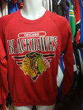 Vintage '89 CHICAGO BLACKHAWKS NHL Jerzees Sweatshirt L - #XL3VintageClothing