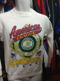 Vintage '89 OAKLAND A's MLB American League Champs Sweatshirt S - #XL3VintageClothing