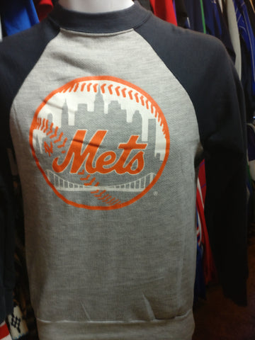 Vintage 80s NEW YOR METS MLB Two Tone Sweatshirt S - #XL3VintageClothing