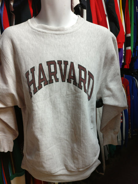 Vtg 90s HARVARD UNIVERSITY CRIMSON NCAA Champion R. W. Sweatshirt XL - #XL3VintageClothing