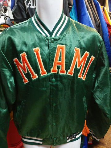 Vintage 90s MIAMI HURRICANES NCAA Swingster Nylon Jacket M - #XL3VintageClothing