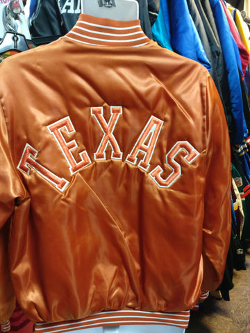 Vintage 80s TEXAS LONGHORNS NCAA Back Patch Bike Nylon Jacket L - #XL3VintageClothing