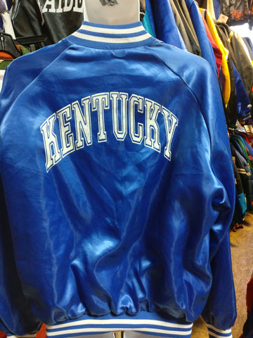 Vtg 80s KENTUCKY WILDCATS NCAA Back Print Chalk Line Nylon Jacket XXL - #XL3VintageClothing